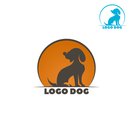 Dog logo abstract design template. Dog silhouette. Illustration