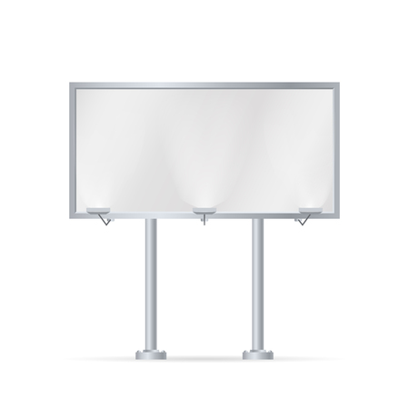 Mockup for your advertisement blank big billboard  illustration. Illustration