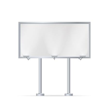 Mockup for your advertisement blank big billboard  illustration. Vettoriali