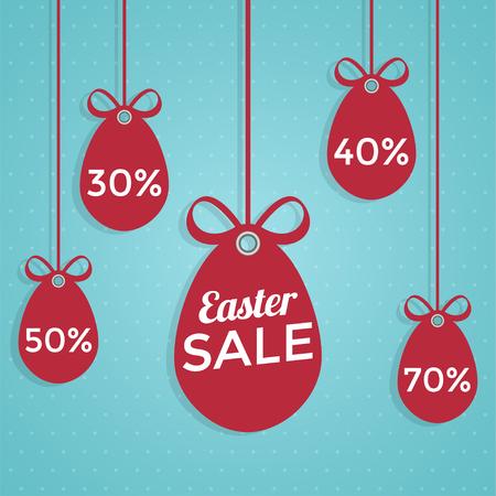 Happy Easter sale flat style. 일러스트