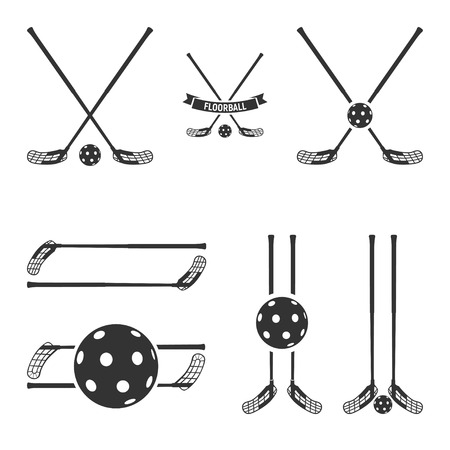 Floorball logo for the team and the cup Vectores