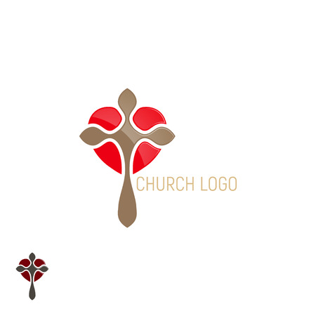 Church logo. Cross with heart.