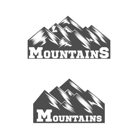 Mountain Logo. Liner design logo. Vector Illutrator