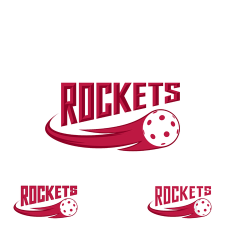 Rocket floorball logo for the team and the cup Иллюстрация