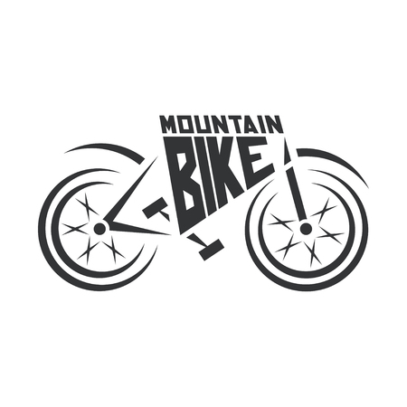 Mountain bike Logo. Abstract mountain bike logo.