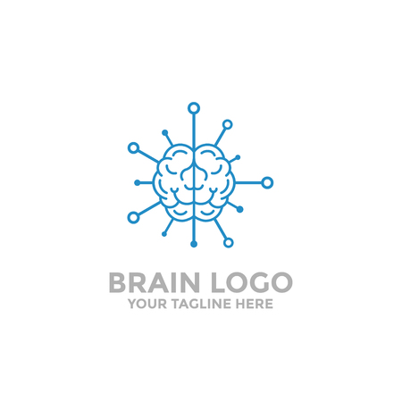 Brain logo template. Brain Tech, brain icon