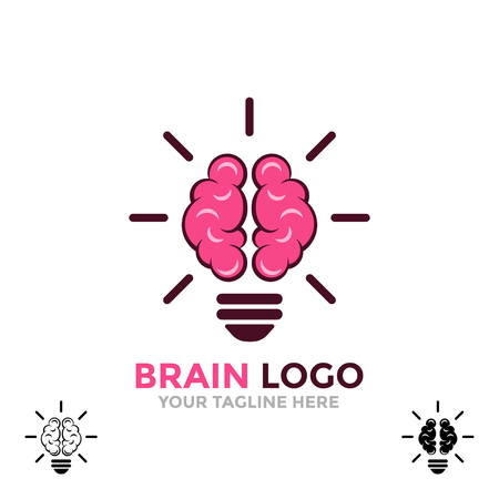 Logo brain. Symbol of creative ideas, mind, thinking.