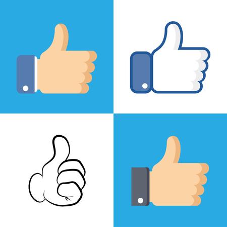 Wie das Symbol im flachen Stil isoliert auf weißem Hintergrund. Wie Symbol für Ihr Website-Design, Logo. Vektor-Illustration. Logo