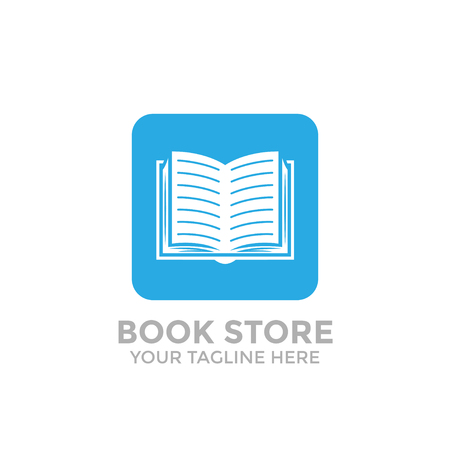 logo book shop template. learning education book store Иллюстрация