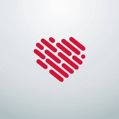 Heart logo. Heart line icons for your design