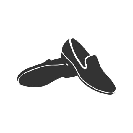 Man shoe icon on a white background. 일러스트
