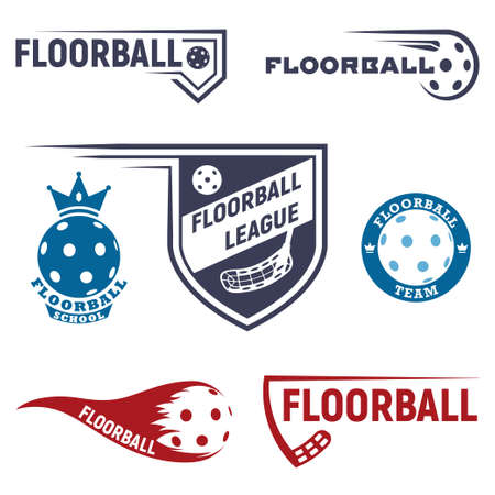 Floorball logo for the team and the cup 일러스트