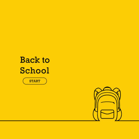 Back to school banner, poster, flat design