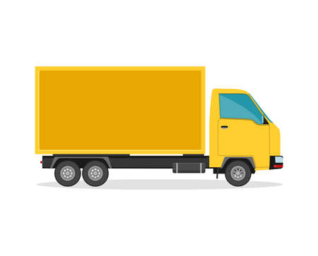 Delivery truck. Flat style vector illustration delivery service concept.