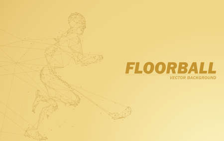 Floorball background, lines create a player with stick.