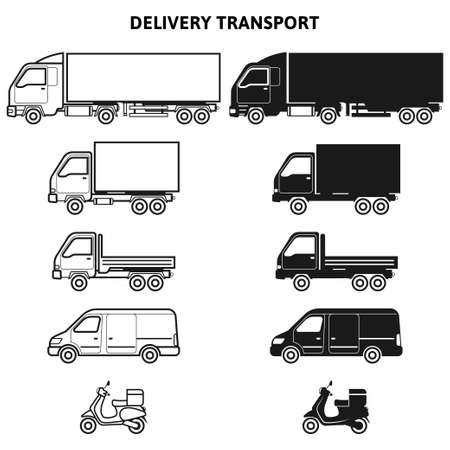 Transport for delivery flat icon for apps and websites.