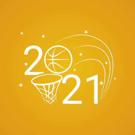 Basketball sign 2021. Basketball background  for a basketball event.