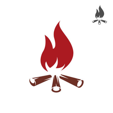 Bonfire icon illustration isolated on white background. Icon for web.
