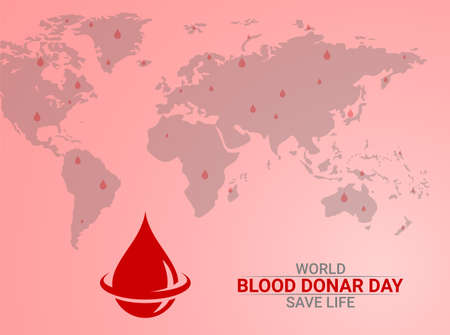 Vector Illustration of Blood Donation. Save Life.