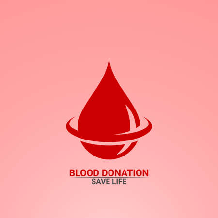 Blood drop logo . Blood donation save life. 일러스트