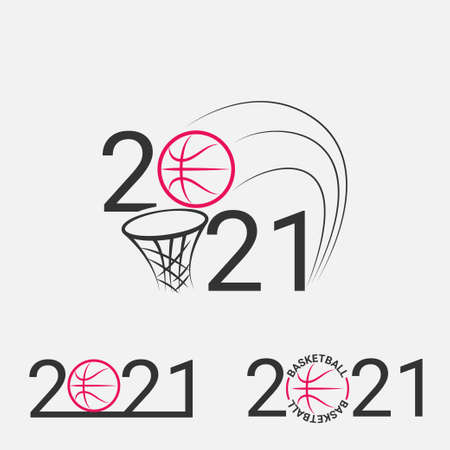 Basketball sign 2021. Set Basketball logo for a basketball event. 일러스트
