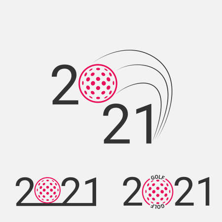 Golf sign 2021. Set Golf logo for a golf event. 일러스트