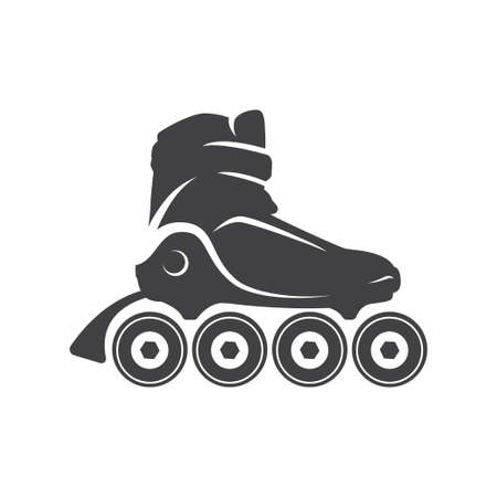 Roller skate logo, emblem, badge. Roller logo for club, event, and other design elements.
