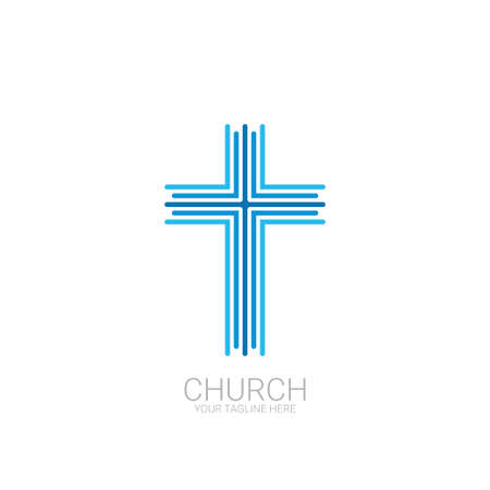 Abstract christian cross  vector template.
