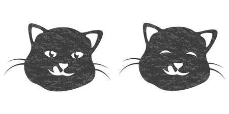 Cat head silhouette design template. Home Pet