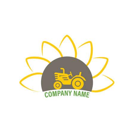 icon Farm. Tractor  illustration, emblem design. 向量圖像