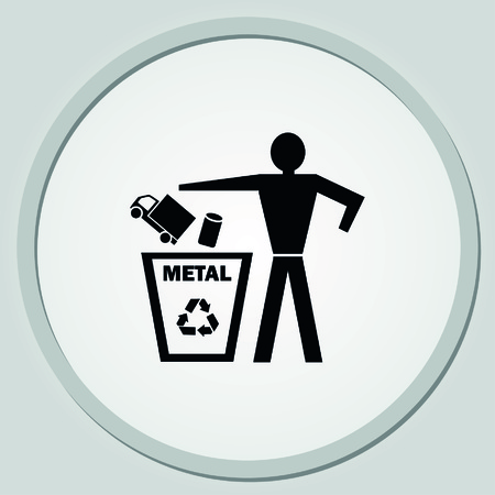 throw away: Throw away the trash icon, recycle icon Illustration