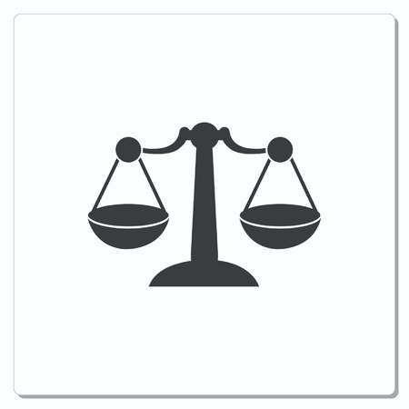 weighed: Scales icon, vector illustration
