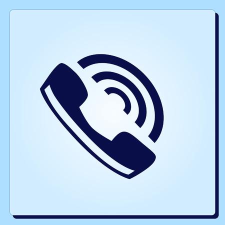 Sluchátko, ikona telefonu, vektorové ilustrace. Reklamní fotografie - 55342550
