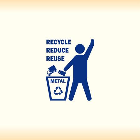 Bote el ícono de la papelera, icono de reciclaje