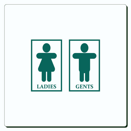 man and women wc sign: Restroom icon, vector illustration