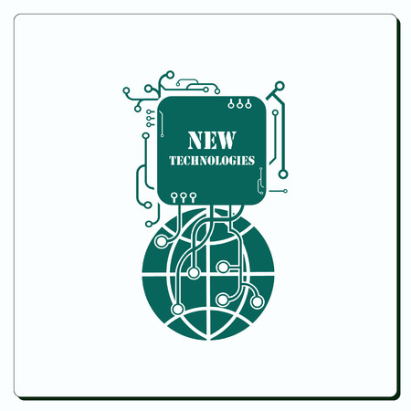 new technologies: New technologies icon. Vector illustration.