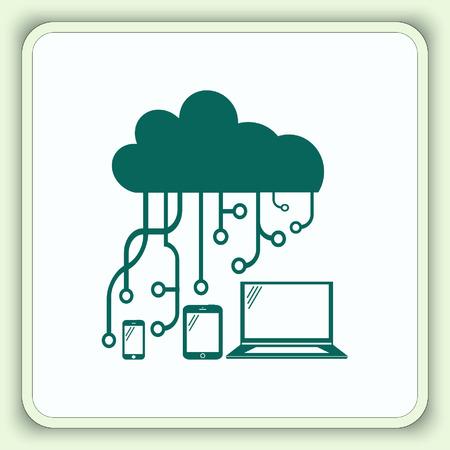 New technologies icon. Vector illustration.