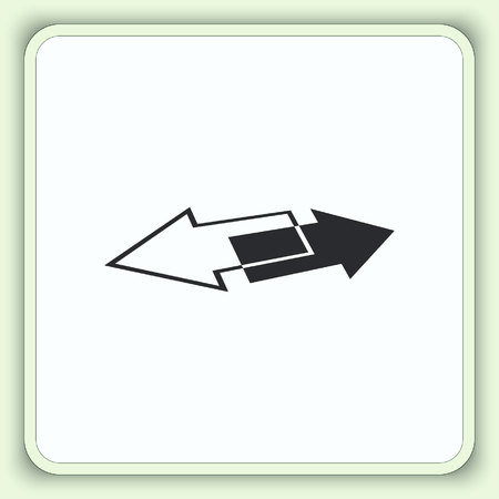 up marker: Arrow indicates the direction icon, vector illustration. Flat design style Illustration