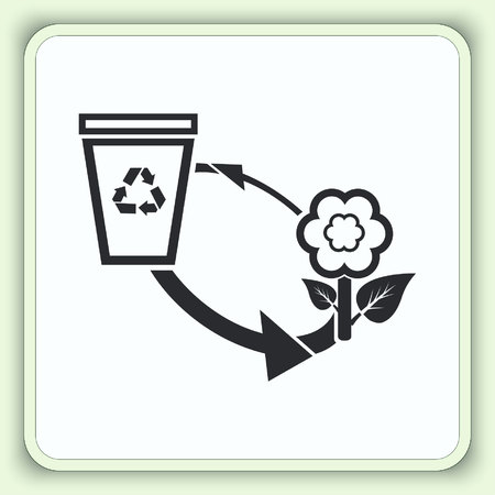 throw away: Throw away the trash icon, recycle icon. Flat Vector illustration