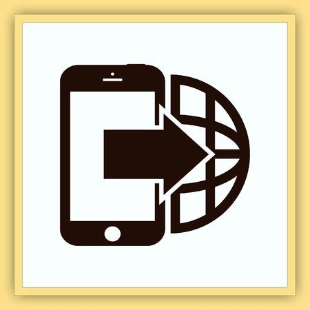 handset: The handset, phone icon, vector illustration.