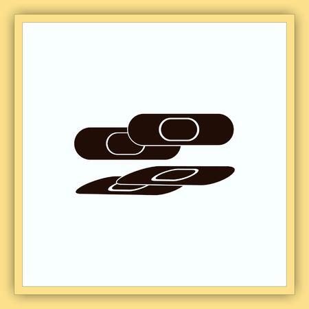plaster: Bandage plaster vector icon. Illustration