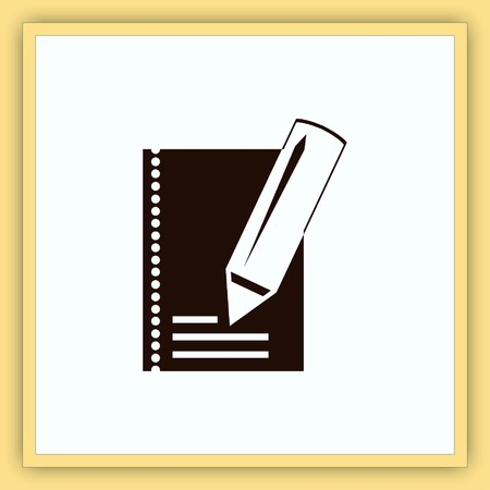 notebook: Notebook icon, vector illustration.