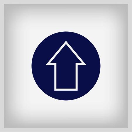 designator: Arrow indicates the direction icon, vector illustration. Flat design style Illustration