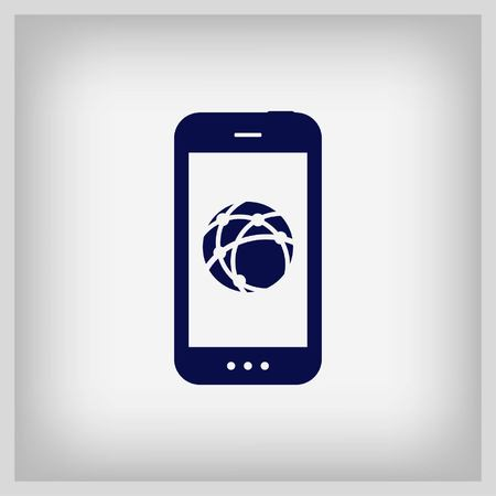calling on phone: Video calling, video, image of a man on the phone icon, vector illustration.