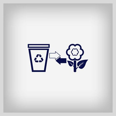 throwing: Throwing trash icon, recycle icon. Flat Vector illustration