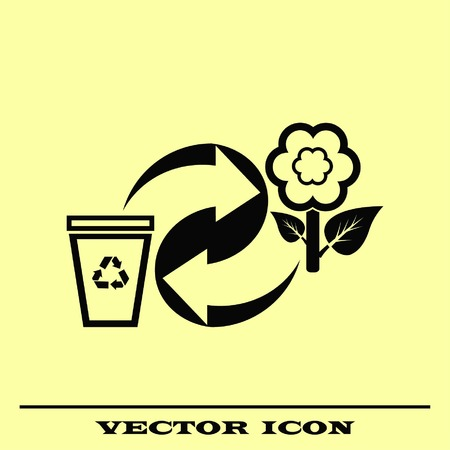 Throwing trash, recycle, pollution, recycling and eco icon. The concept of ecology problem. Çizim