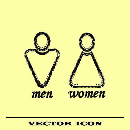 Restroom icon, vector illustration.