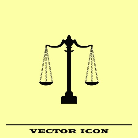 weighed: Scales icon, vector illustration. Illustration