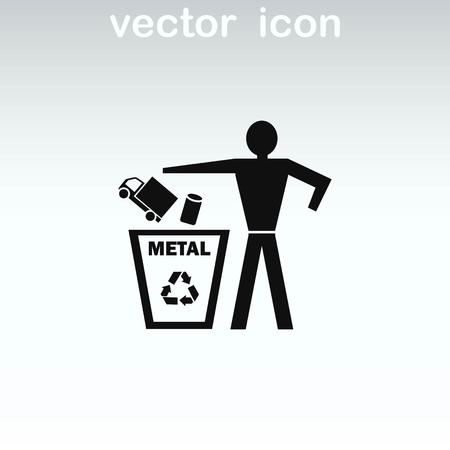 Throwing trash, recycle, pollution, recycling and eco icon. The concept of ecology problem. Stock Illustratie