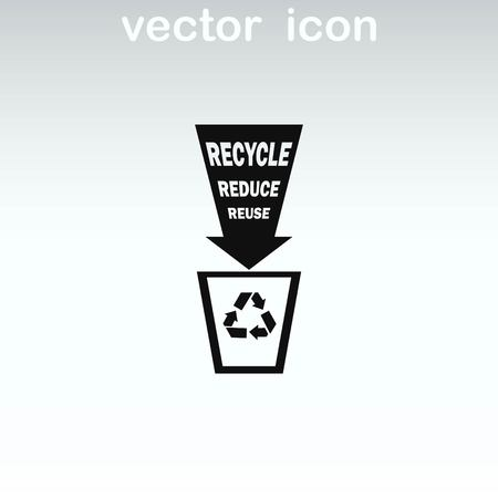 Throwing trash, recycle, pollution, recycling and eco icon. The concept of ecology problem. Иллюстрация
